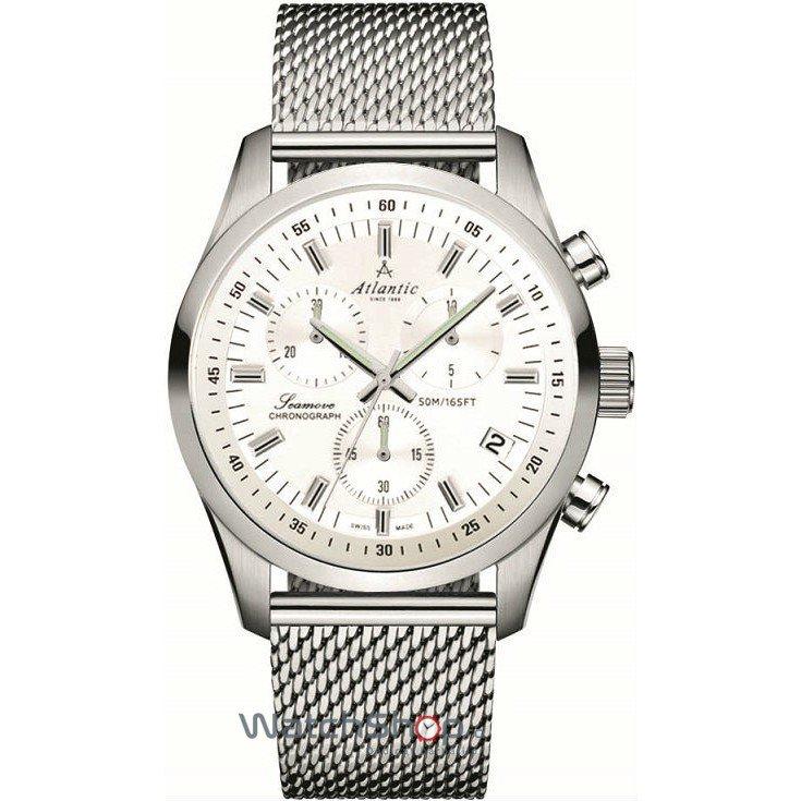 Ceas Atlantic SEAMOVE 65456.41.21 Cronograf original pentru barbati
