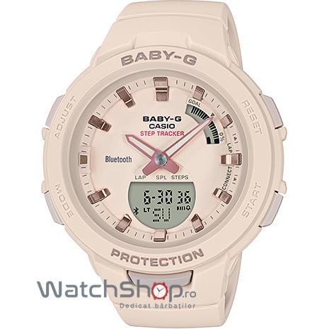 Ceas Casio Baby-G BSA-B100-4A1ER G-Squad Step Tracker original pentru dama