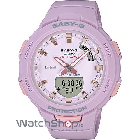 Ceas Casio Baby-G BSA-B100-4A2ER G-Squad Step Tracker original pentru dama