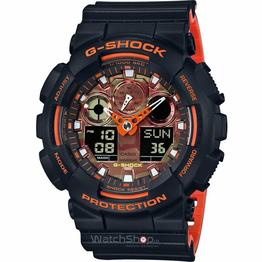 Ceas Casio G-Shock GA-100BR-1AER original pentru barbati