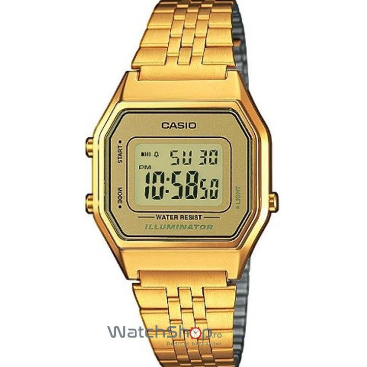 Ceas Casio RETRO LA680WEGA-9ER Gold original pentru dama