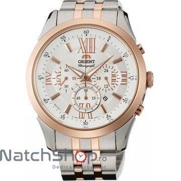 Ceas Orient SPORTY QUARTZ FTW04001W Cronograf original pentru barbati