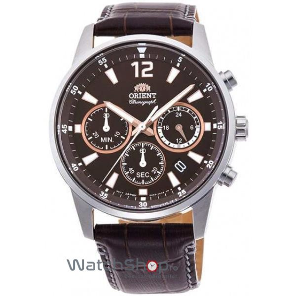 Ceas Orient SPORTY QUARTZ KV0006Y10B Cronograf original pentru barbati