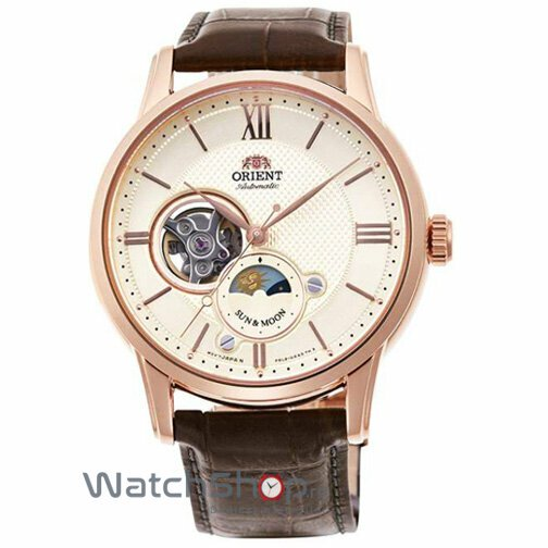 Ceas Orient Sun and Moon RA-AS0003S10B Open Heart Automatic original pentru barbati