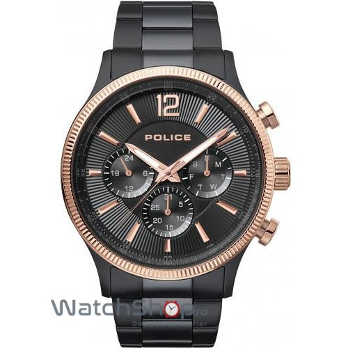 Ceas Police Feral 15302JSBR/02M Rose Gold and Black Stainless Steel original pentru barbati