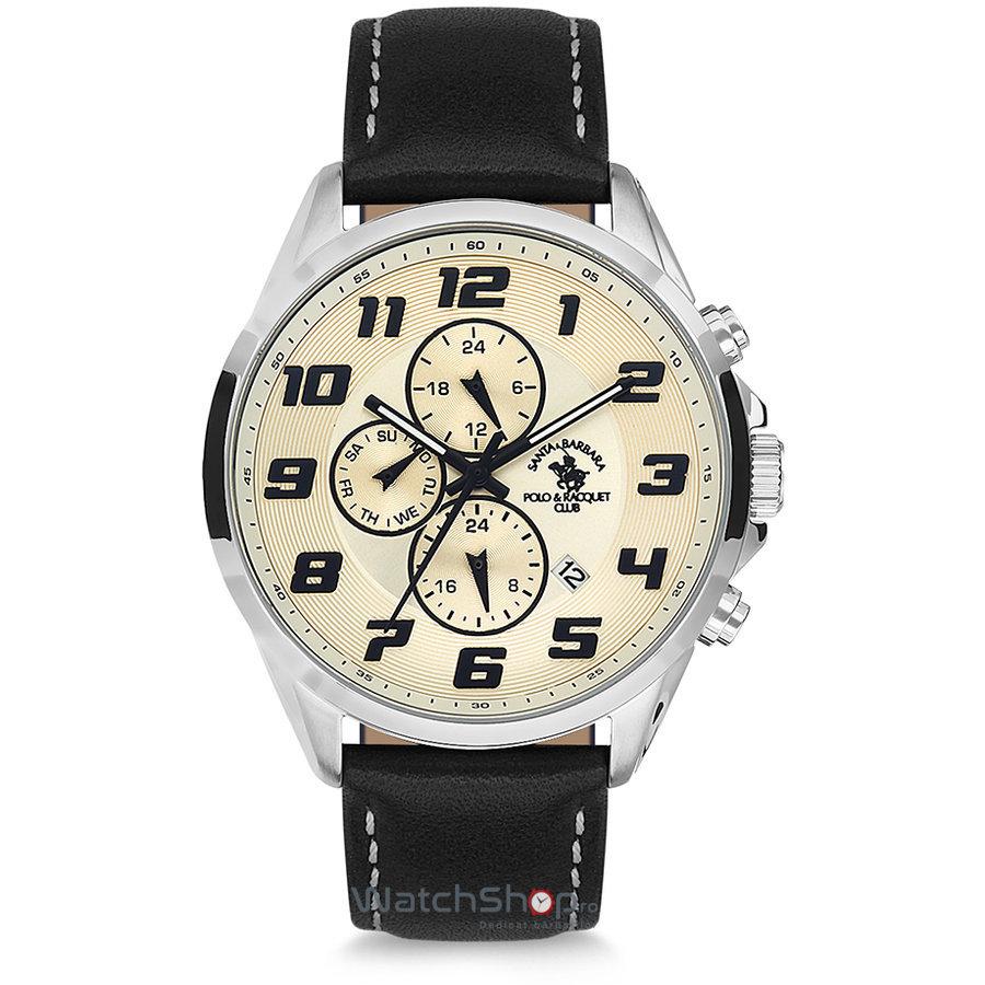 Ceas SantaBarbaraPolo NOBLE SB.7.1121.3 Dual Time original pentru barbati
