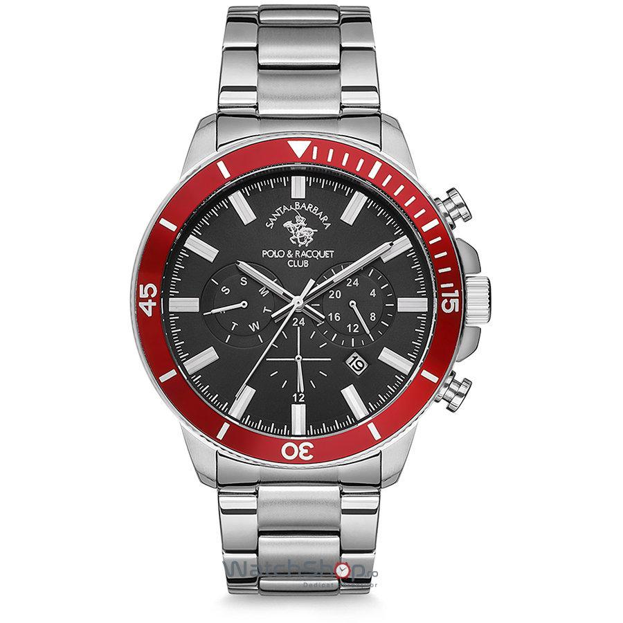 Ceas SantaBarbaraPolo PRIVE SB.5.1169.6 Dual Time original pentru barbati