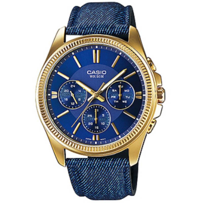Ceas barbatesc Casio Fashion MTP-E304GBL-2AVEF de mana original