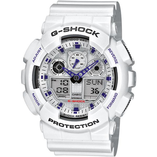 Ceas barbatesc Casio G-Shock GA-100A-7AER original de mana