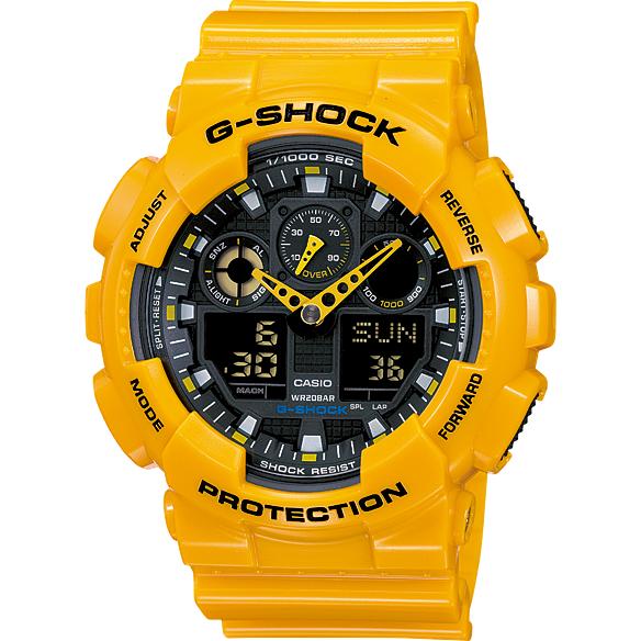 Ceas barbatesc Casio G-Shock GA-100A-9AER original de mana