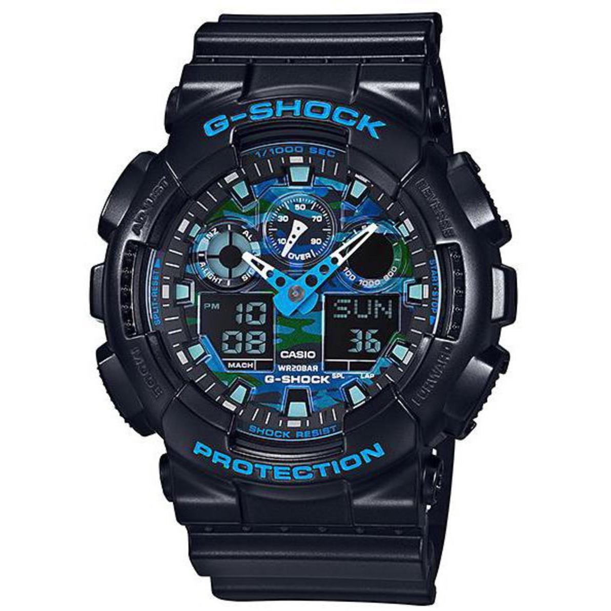 Ceas barbatesc Casio G-Shock GA-100CB-1AER original de mana