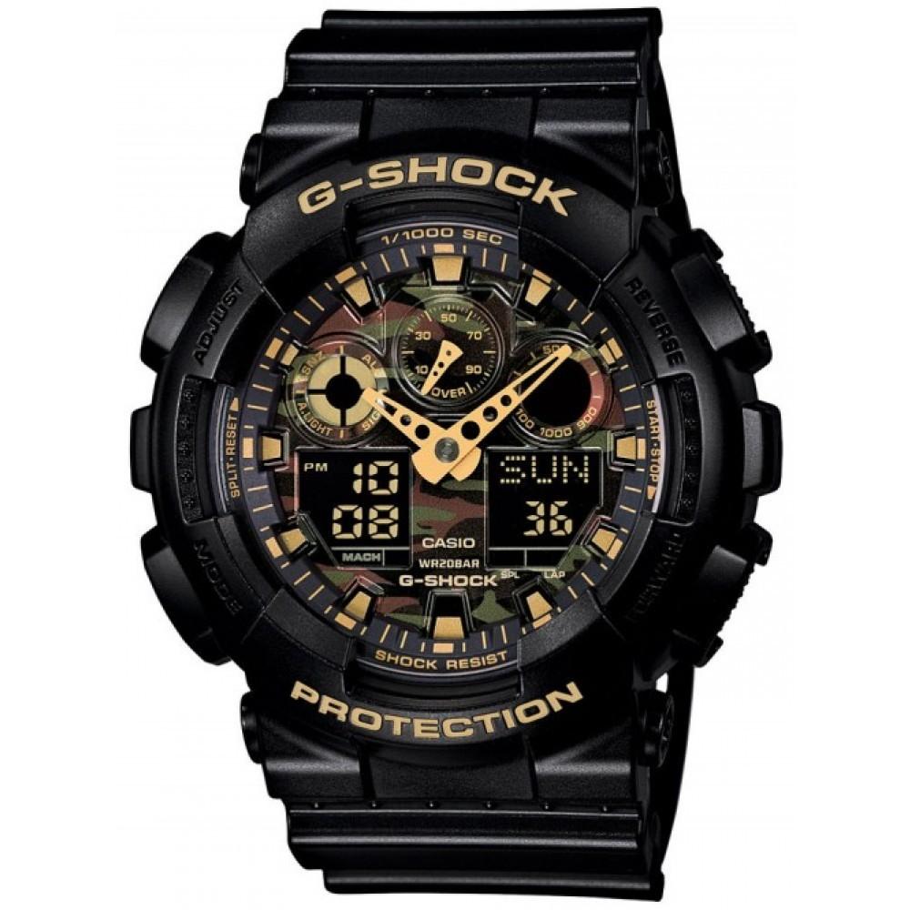 Ceas barbatesc Casio G-Shock GA-100CF-1A9ER original de mana