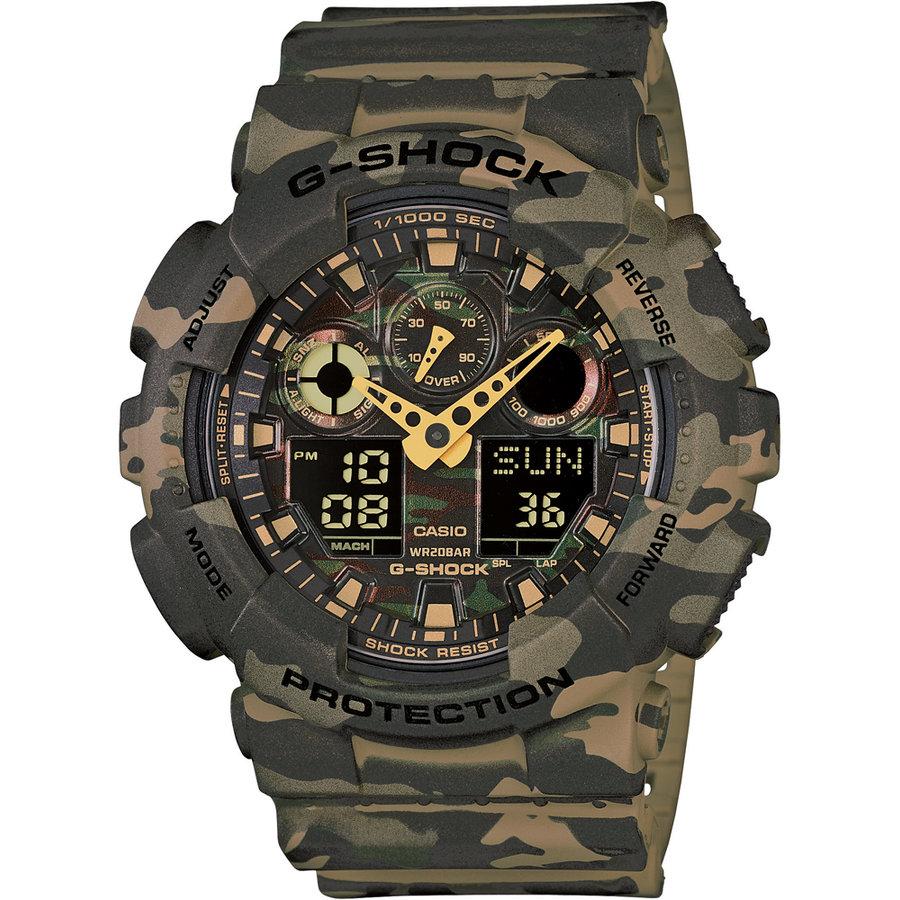 Ceas barbatesc Casio G-Shock GA-100CM-5AER original de mana