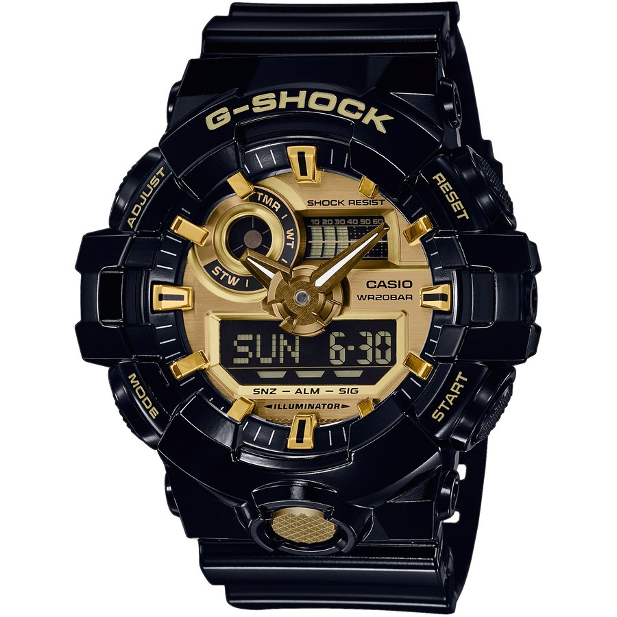 Ceas barbatesc Casio G-Shock GA-710GB-1AER original de mana