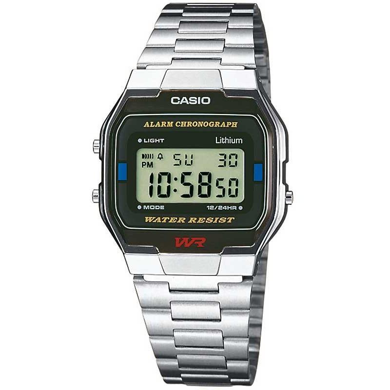 Ceas barbatesc Casio Retro A163WA-1QES original de mana