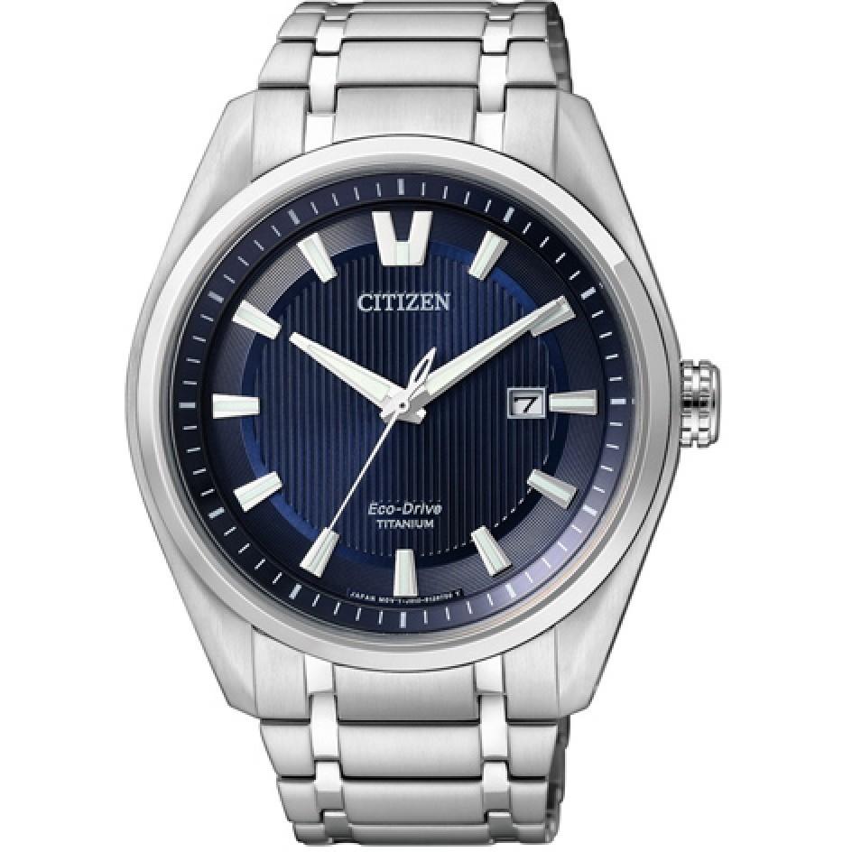 Ceas barbatesc Citizen Eco-Drive Super-Titanium AW1240-57L original de mana