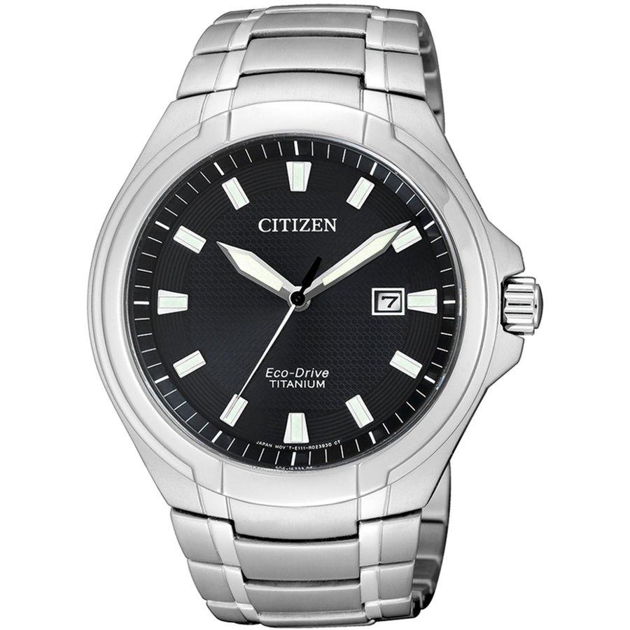 Ceas barbatesc Citizen Eco-Drive Super-Titanium BM7430-89E de mana original