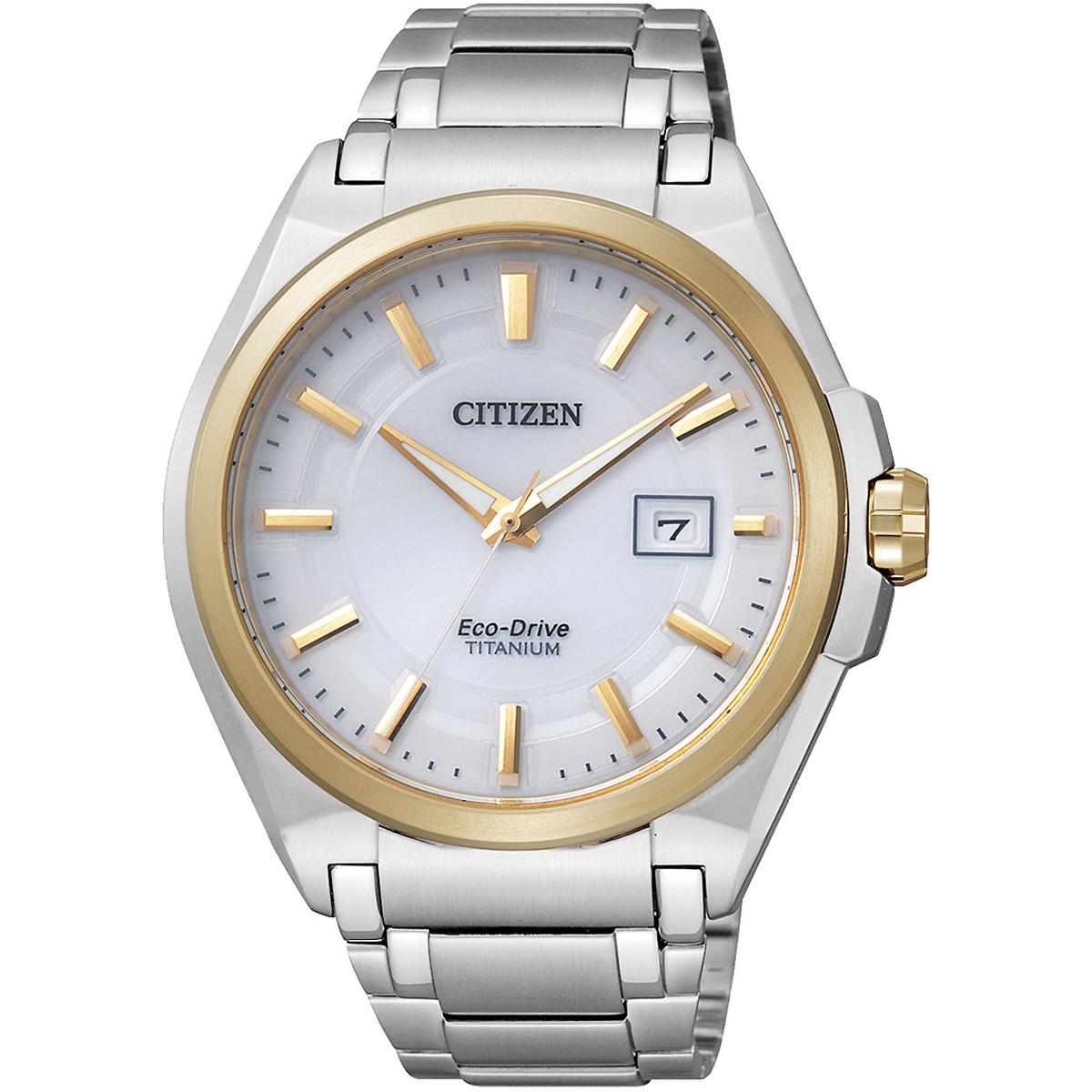 Ceas barbatesc Citizen Eco-Drive Titanium BM6935-53A original de mana