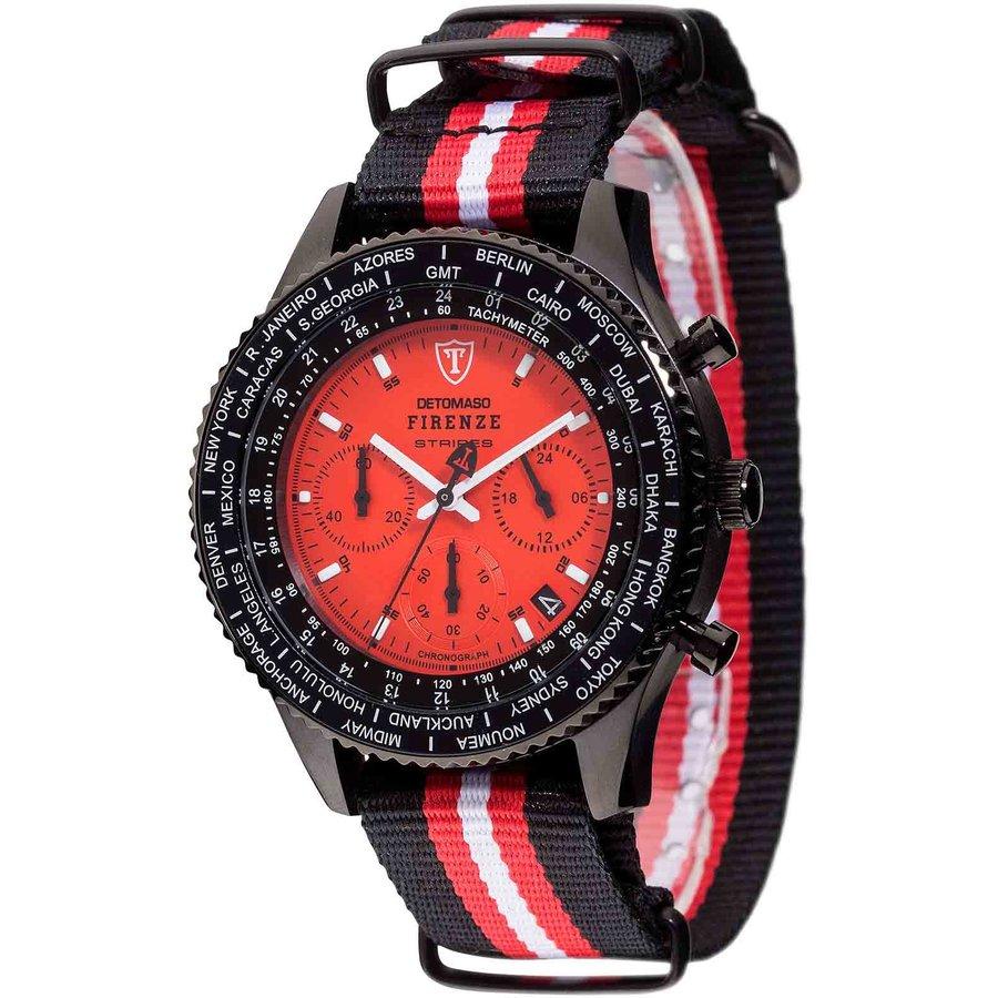 Ceas barbatesc Detomaso Firenze Stripes Red DT1070-A de mana original