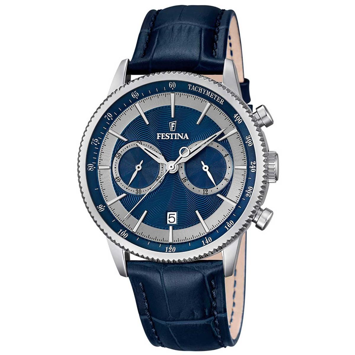 Ceas barbatesc Festina Classic Cronograf F16893/6 de mana original