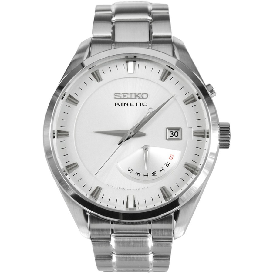 Ceas barbatesc Seiko Kinetic SRN043P1 original de mana