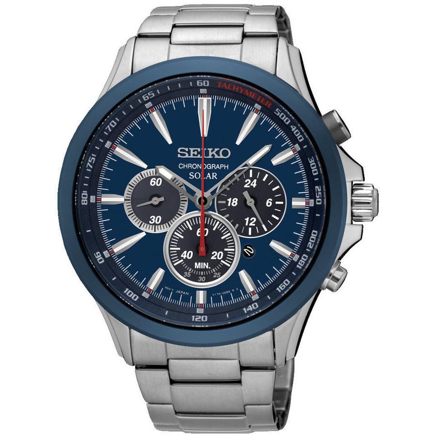 Ceas barbatesc Seiko Solar Cronograph SSC495P1 original la pret mic