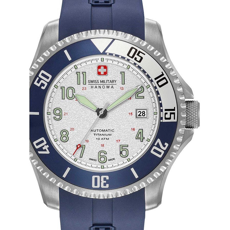 Ceas barbatesc SwissMilitaryHanowa Triton Automatic 05-4284.15.001 de mana original
