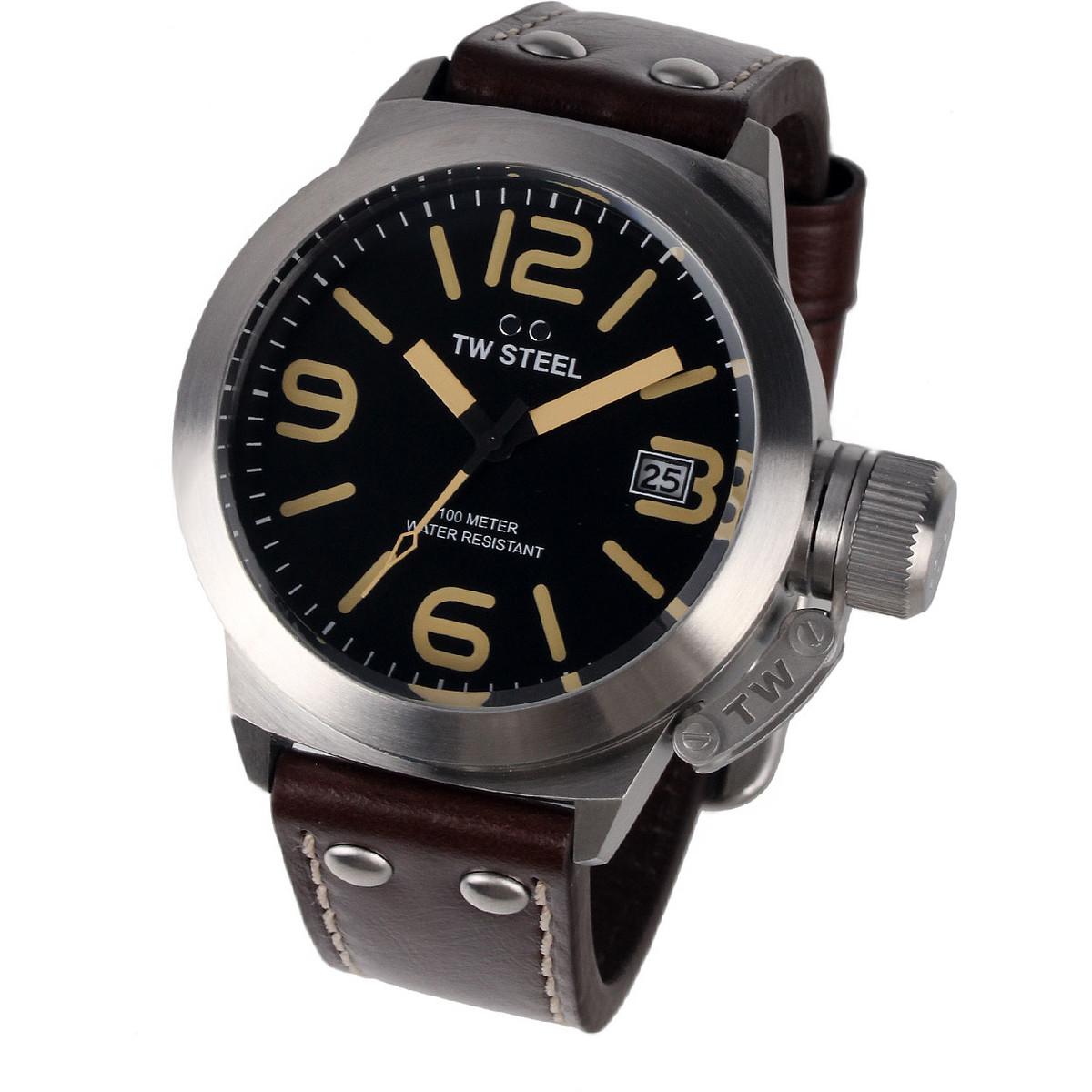 Ceas barbatesc TW-Steel CS31 Canteen Leather de mana original