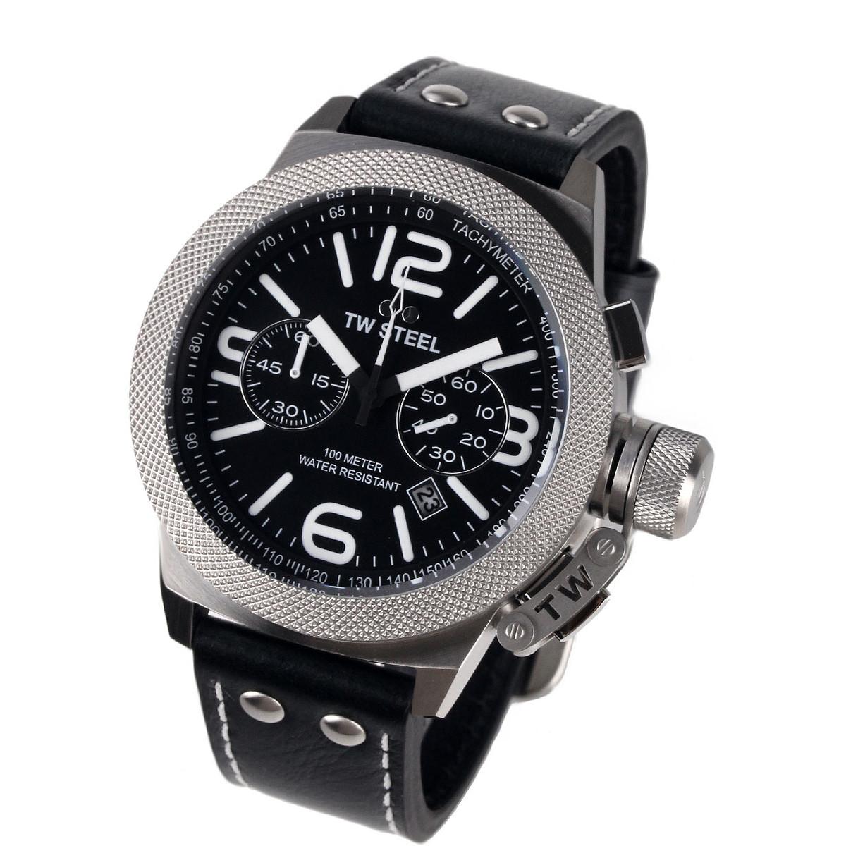 Ceas barbatesc TW-Steel CS4 Canteen Leather Chronograph original la pret mic