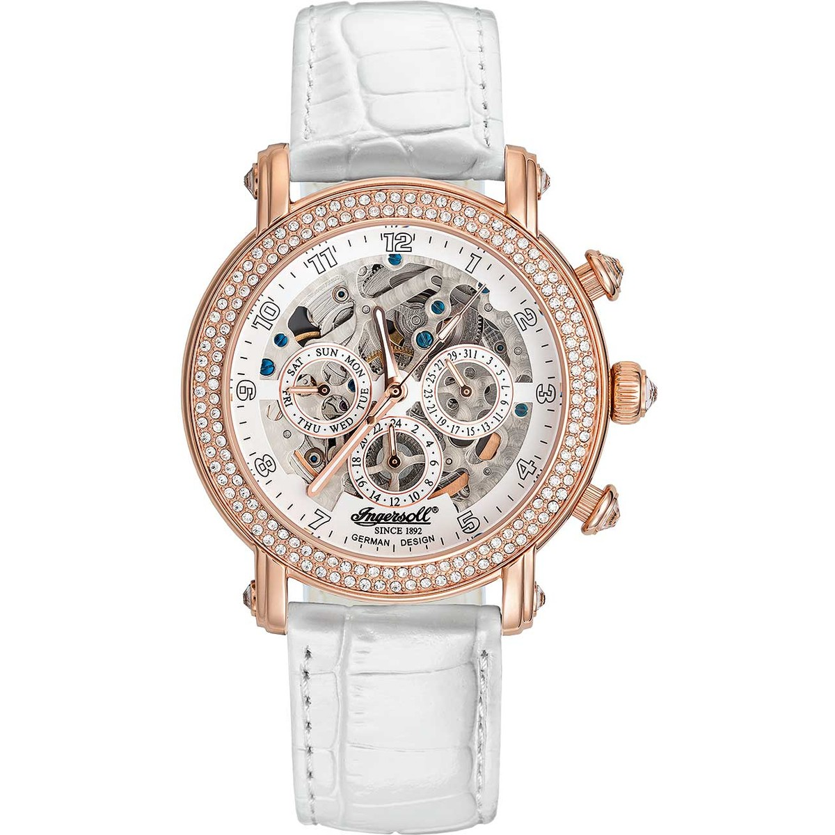 Ceas dama Ingersoll Dream IN7202RWH automatic original de mana
