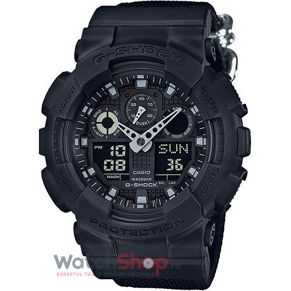 Ceas Casio G-SHOCK GA-100BBN-1AER Antimagnetic original barbatesc