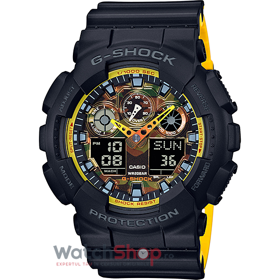 Ceas Casio G-SHOCK GA-100BY-1A Antimagnetic original barbatesc