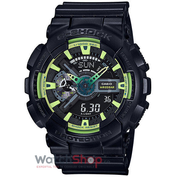 Ceas Casio G-SHOCK GA-110LY-1A Antimagnetic Hyper Colours original barbatesc