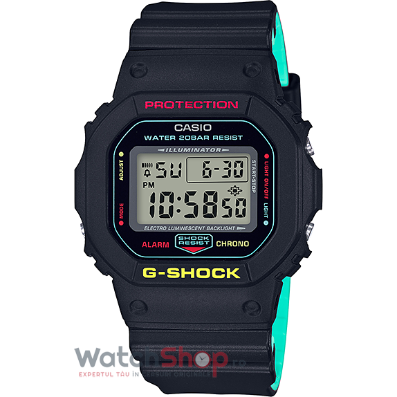 Ceas Casio G-Shock Breezy Rasta Color DW-5600CMB-1 original barbatesc