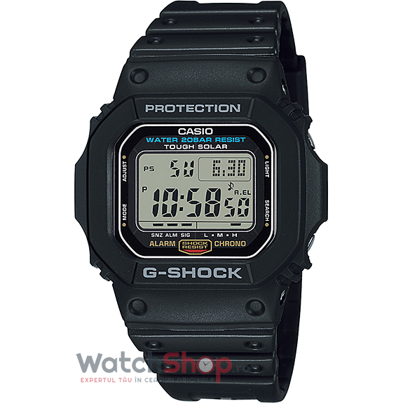 Ceas Casio G-Shock G-5600E-1DR Tough Solar original barbatesc
