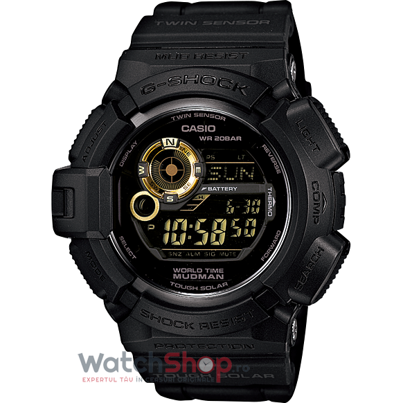 Ceas Casio G-Shock G-9300GB-1DR Mudman Tough Solar barbatesc de mana