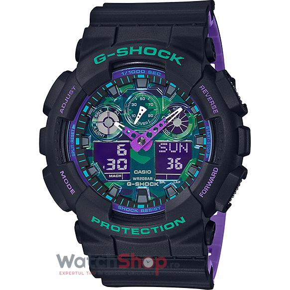 Ceas Casio G-Shock GA-100BL-1ADR original barbatesc