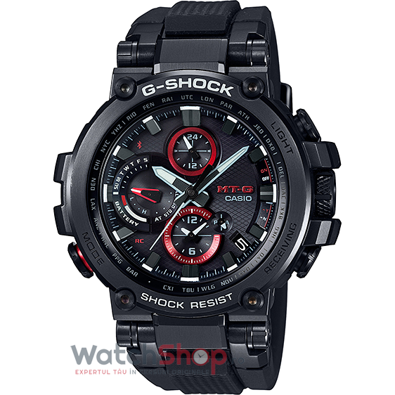 Ceas Casio G-Shock MTG-B1000B-1AER Tough Solar barbatesc de mana