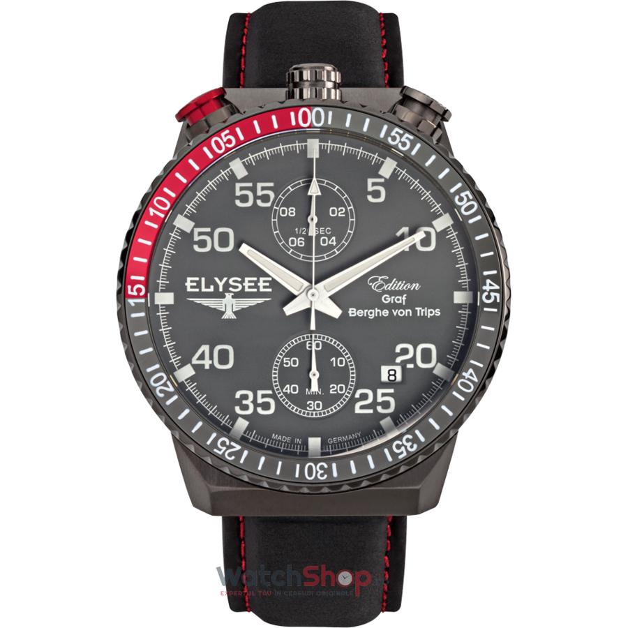 Ceas Elysee Rally Timer I 80517 Cronograf barbatesc de mana