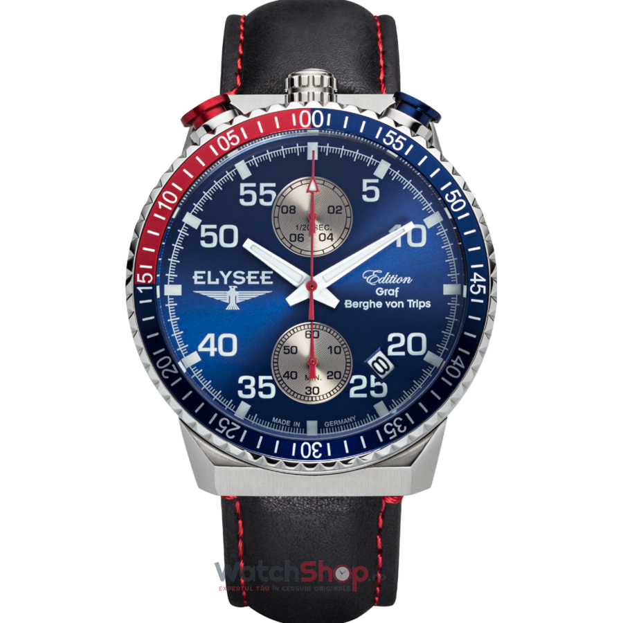 Ceas Elysee Rally Timer I 80521 Cronograf barbatesc de mana