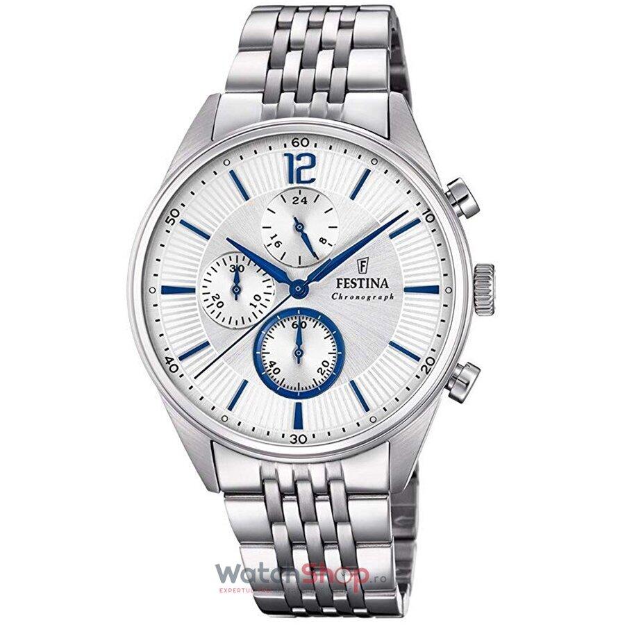 Ceas Festina Timeless F20285/1 Cronograf original barbatesc