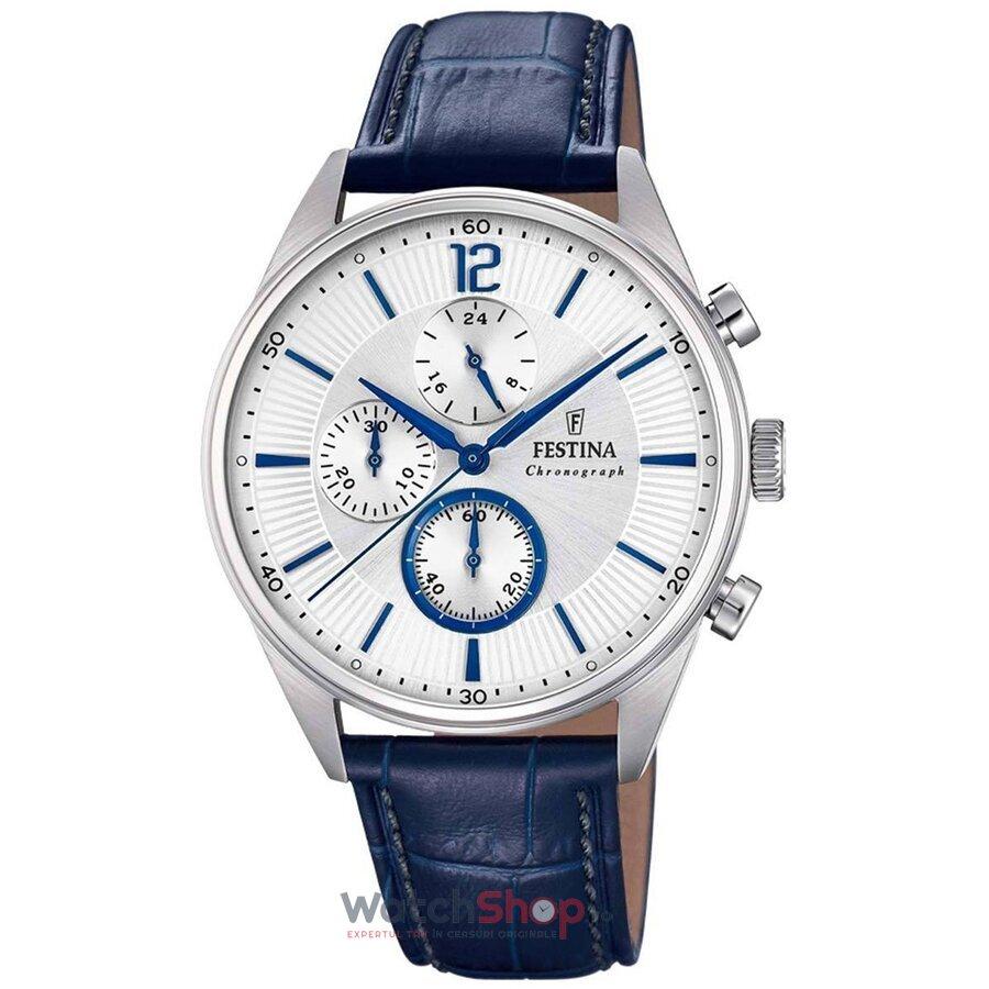 Ceas Festina Timeless F20286/1 Cronograf original barbatesc