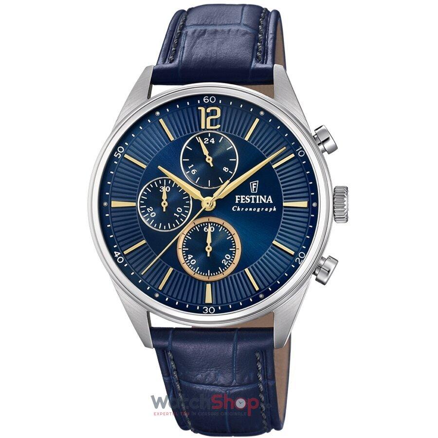 Ceas Festina Timeless F20286/3 Cronograf original barbatesc