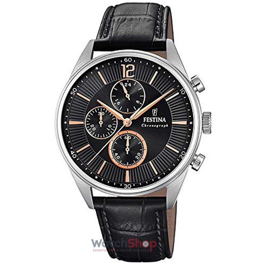 Ceas Festina Timeless F20286/6 Cronograf original barbatesc