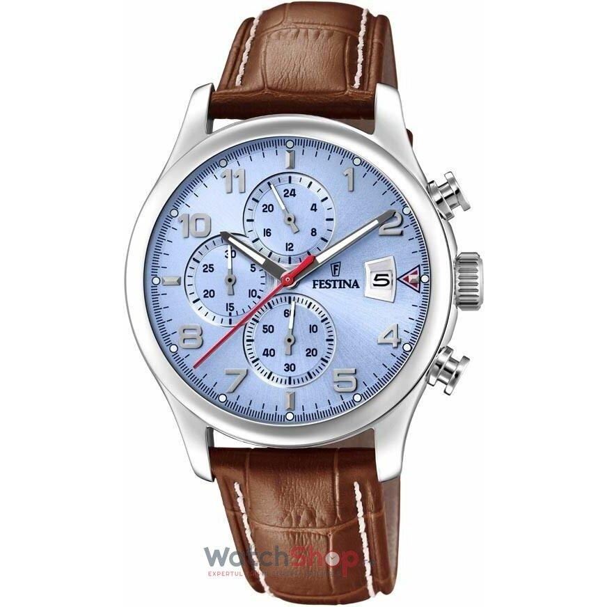 Ceas Festina Timeless F20375/5 Chronograph original barbatesc