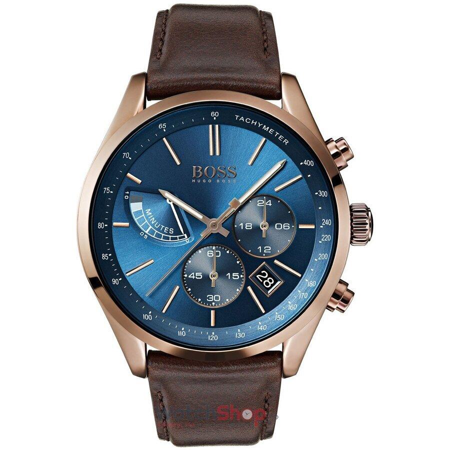 Ceas HugoBoss Grand Prix 1513604 Cronograf barbatesc de mana