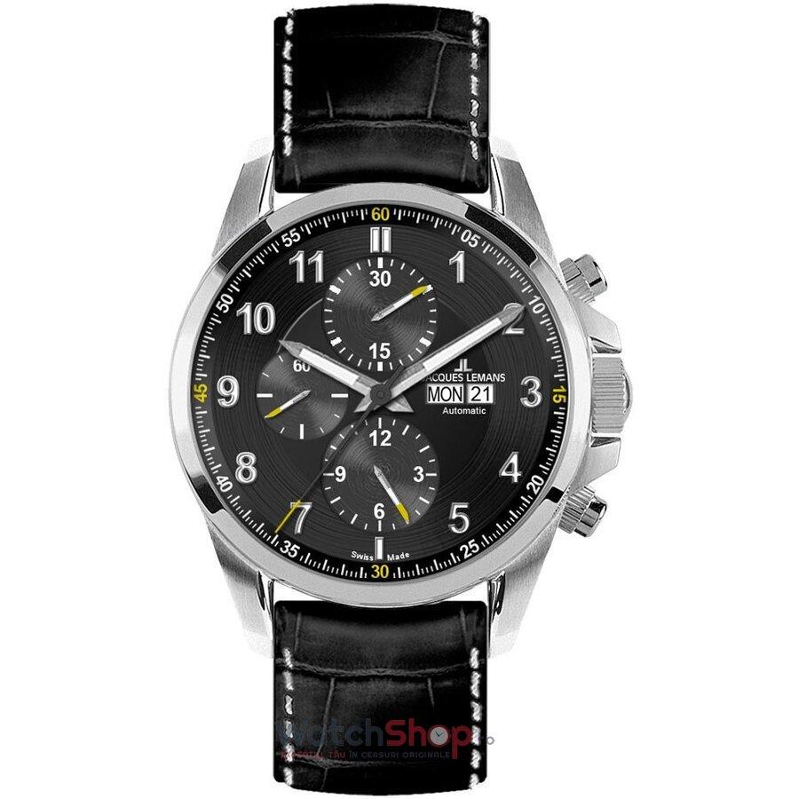Ceas JacquesLemans AUTOMATIC 1-1750A Liverpool Cronograf barbatesc de mana