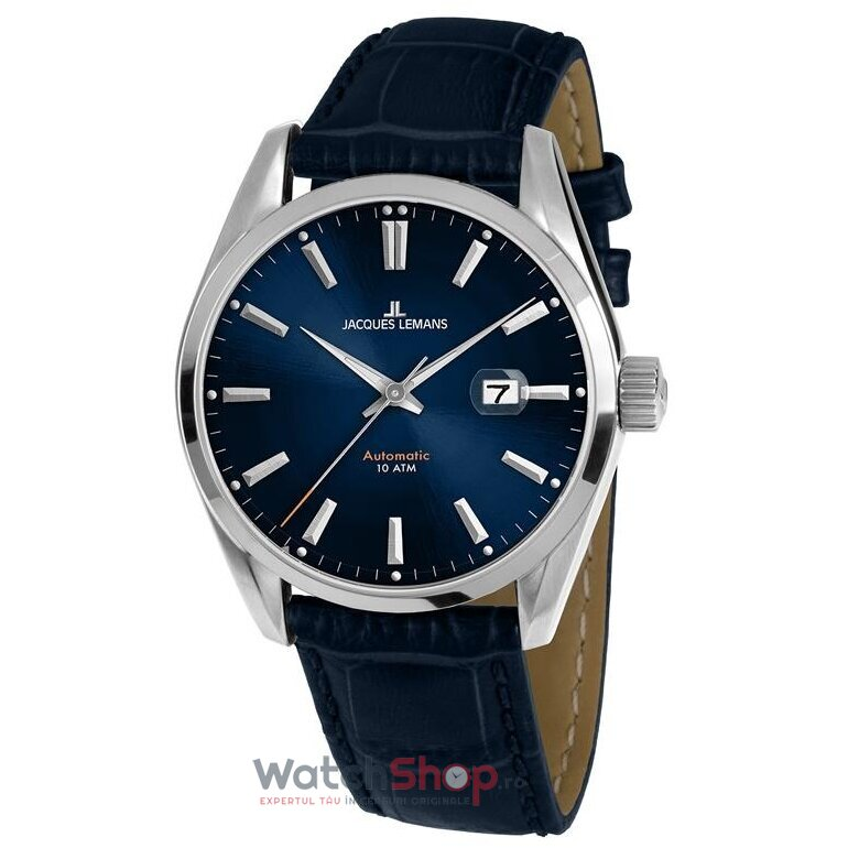 Ceas Jacques Lemans DERBY 1-1846B Automatic barbatesc de mana