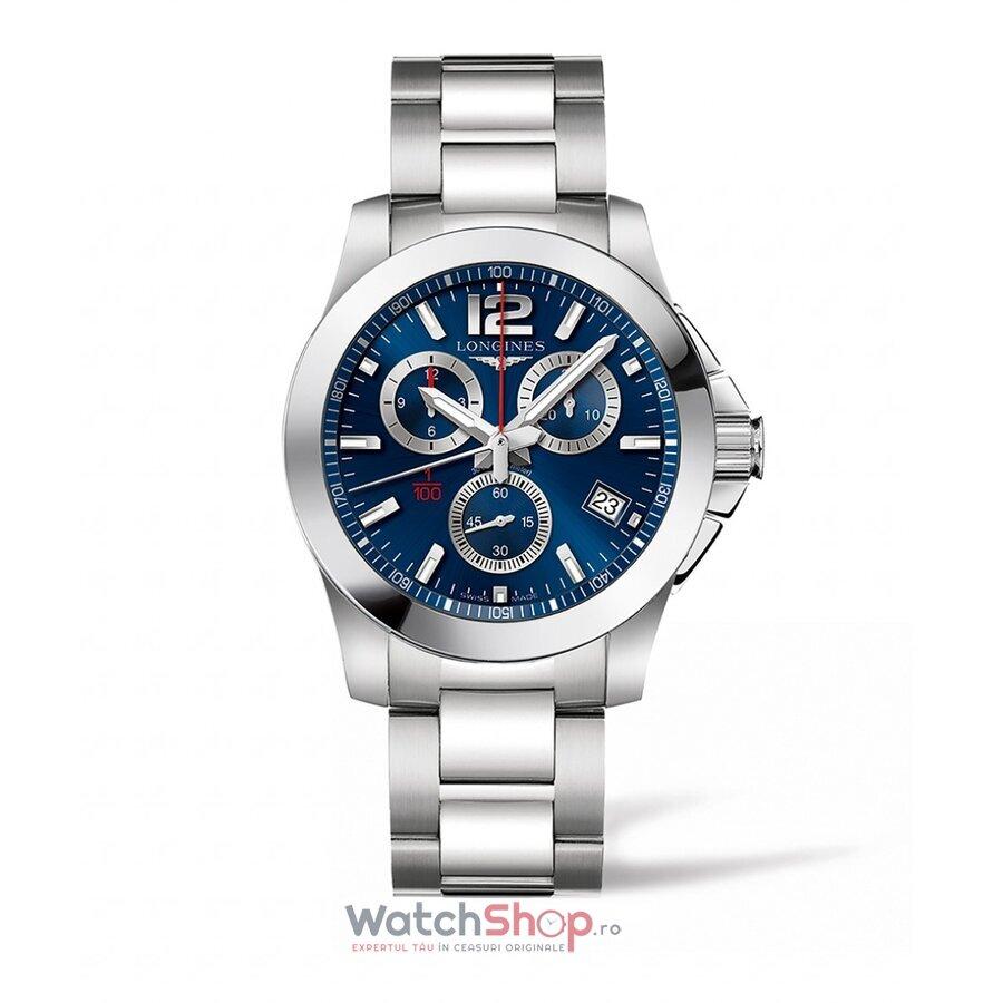 Ceas Longines Conquest L37004966 Cronograf barbatesc de mana