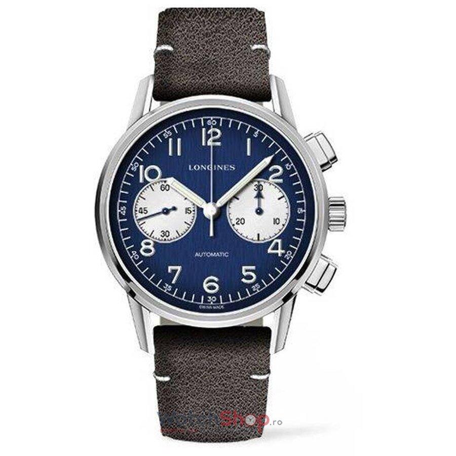 Ceas Longines Heritage L28144960 Cronograf Automatic barbatesc de mana